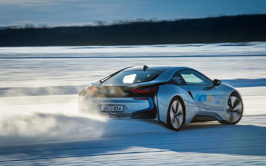 BMW i8 at Wintertest, Sweden