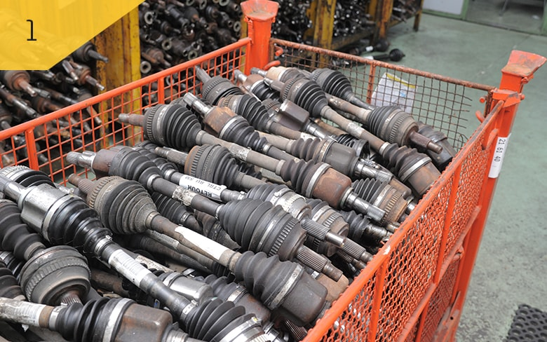 Core management: We take back used driveshafts from the workshops