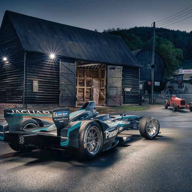 GKN and Panasonic Jaguar Racing set new electric car course record at world's oldest motorsport venue