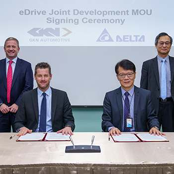 GKN Automotive and Delta Electronics Inc. collaborate  to accelerate development of next-generation eDrive technology